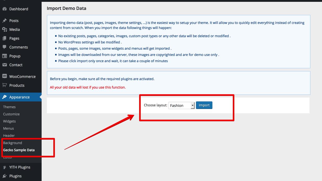 import-sample-data